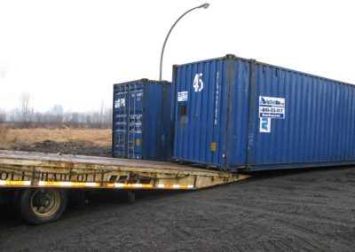 Two Shipping Containers Side-By-Side