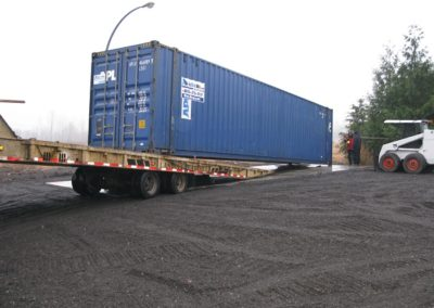 Shipping Container Offloaded